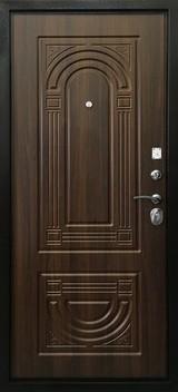 Дверь Ратибор Оптима 3К Античная медь  Орех бренди