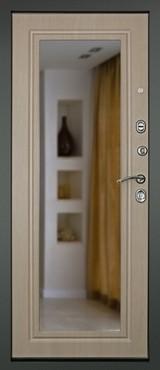 Дверь Дверной континент Сити-Z3К (с зеркалом) Графит  Белёный дуб