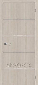 Дверь el'Porta Порта Z 50А-6 Cappuccino Crosscut экошпон