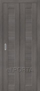 Дверь el'Porta складная Porta X 21 Grey Veralinga экошпон