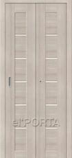 Дверь el'Porta складная Porta X 22 Cappuccino Veralinga экошпон