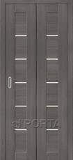 Дверь el'Porta складная Porta X 22 Grey Veralinga экошпон