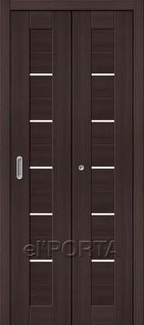 Дверь el'Porta складная Porta X 22 Wenge Veralinga экошпон