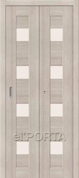 Дверь el'Porta складная Porta X 23 Cappuccino Veralinga экошпон