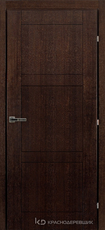 Дверь Краснодеревщик 83 00 Дуб мореный натуральный шпон