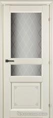 Дверь Краснодеревщик 63 34 с фурнитурой, Слоновая кость с печатью CPL